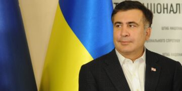 Mikheil Saakashvili during his visit to Ukraine within the frame of Euromaidan events. December 7, 2013.